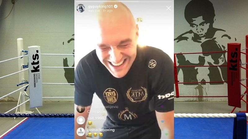 """Video: Tyson Furyn poika pisti komentelevalle isälleen jauhot suuhun – """"Haista v***u, senkin m****u!"""""""