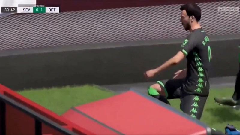 Virtuaalinen Borja Iglesias Real Betis Sevillan derby FIFA-pelillä / Pallomeri.net