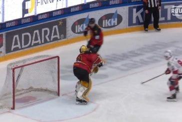Video: Ilves-veskari Ville Kolppanen heittäytyi härskiksi Mestis-keikalla - veti kärkikarvaajalta puikot