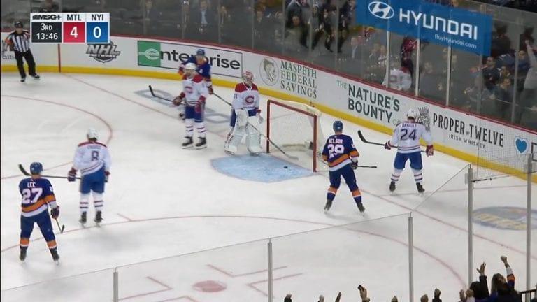 Video: Carey Price sähelsi oikein olan takaa – hukkasi kiekon maalin takana