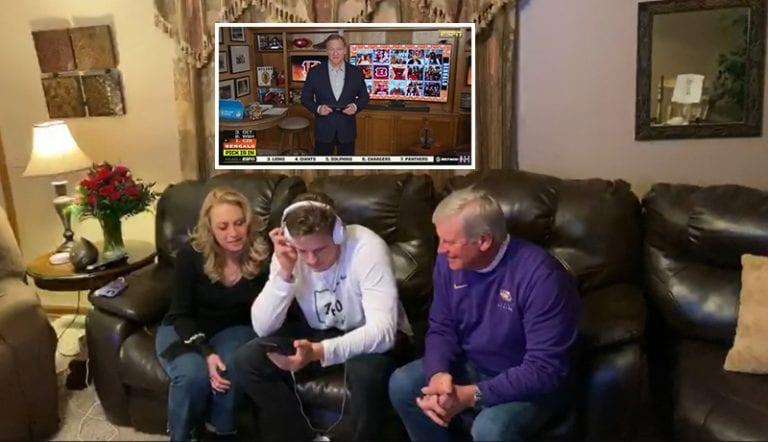 Video: NFL:n virtuaalinen drafti rikkoi katsojaennätykset – komissaari huuteli nimiä kellaristaan