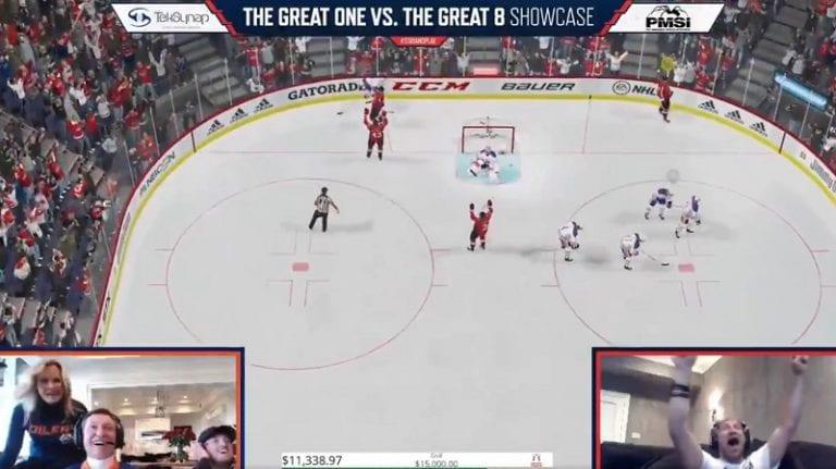 Video: Gretzky ja Ovechkin kohtasivat NHL 20 -pelissä – Ovechkin juhli villisti dramaattista tasoitustaan