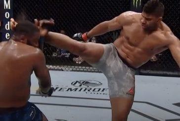 Video: UFC-legenda Alistair Overeem jysäytti tylyn potkun ja viimeisteli tyrmäyksen matossa