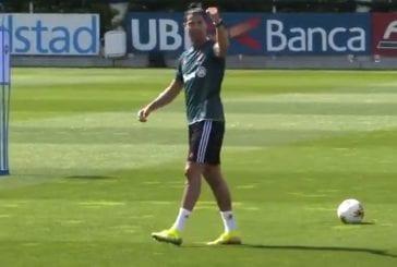 Video: Niin vaivatonta, kun sen osaa - Cristiano Ronaldo näytti huikeita taitojaan Juventuksen treeneissä