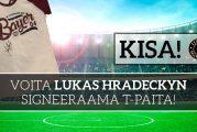 ILMAINEN KISA! Voita Leverkusenin t-paita Lukas Hradeckyn nimmarilla!