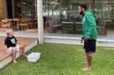 Video: Neymar pilaili poikansa kustannuksella - härski källi kesken puskuharjoitusten