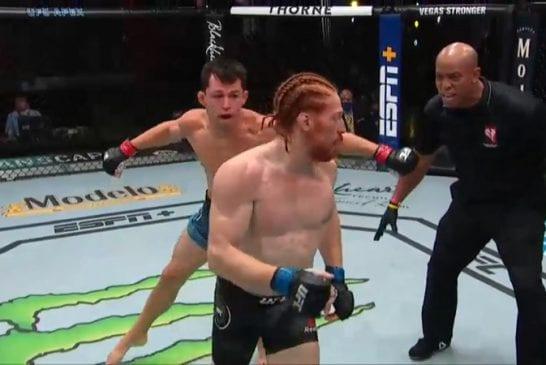 Video: UFC-ottelija jätti erän ylimielisesti kesken - vastustaja kuittasi terävällä pommilla