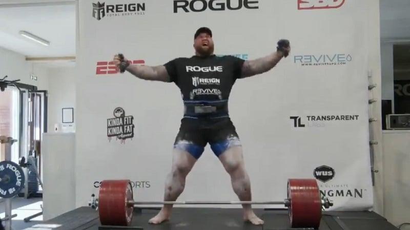 Hafþór Júlíus Björnsson teki uuden maailmanennätyksen / Pallomeri.net