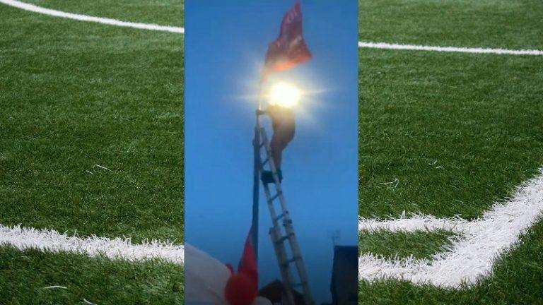 Video: Liverpool-fanille kävi juhlahumussa köpelösti – putosi kivuliaasti lampputolpasta