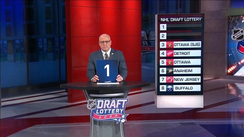 NHL draft lottery 2020 / Pallomeri.net
