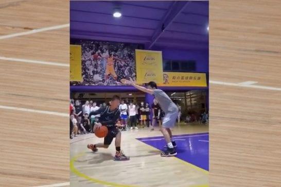 Video: Yksikätisen 13-vuotiaan koripallotaiturin häikäisevä viraalivideo herätti NBA-tähdenkin huomion