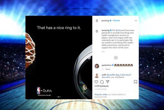 Virallinen vahvistus tuli: NBA-tähdille jaetaan suomalaiset Oura-sormukset