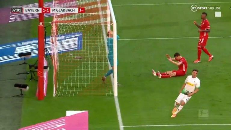 Video: Bayern-pakki Benjamin Pavardille sattui synkkä hetki – sipaisi oman maalin upealla sijoituksella