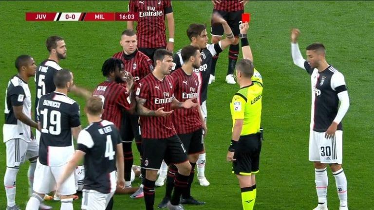 Video: AC Milanin Ante Rebic töhöili huolella – pamautti älyvapaan potkun vastustajan rintaan