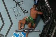 Video: Julma kyynärpääisku teki pahaa jälkeä - UFC-ottelijan kasvoihin aukesi rujo haava