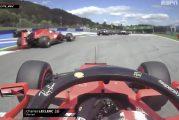 Video: Ferrarin kisasta täydellinen katastrofi – kuljettajat kolaroivat keskenään, molemmat joutuivat keskeyttämään