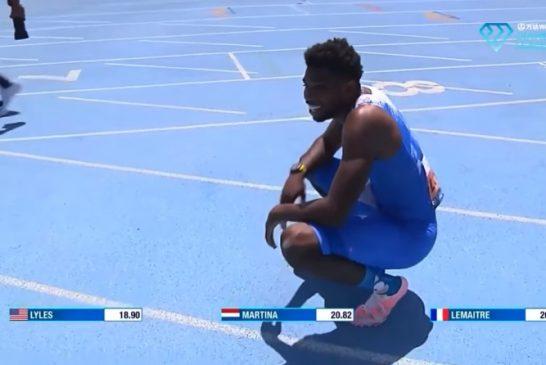 Video: Noah Lyles teki 200 metrin ME:n - tai niin ainakin hetken luultiin