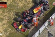 Video: F1-harjoituksissa rysähti - Red Bullin Alexander Albon menetti autonsa hallinnan