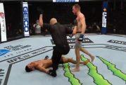 Video: Davey Grant latasi rajun tyrmäysiskun UFC:ssä - otteli itse murtuneella leualla
