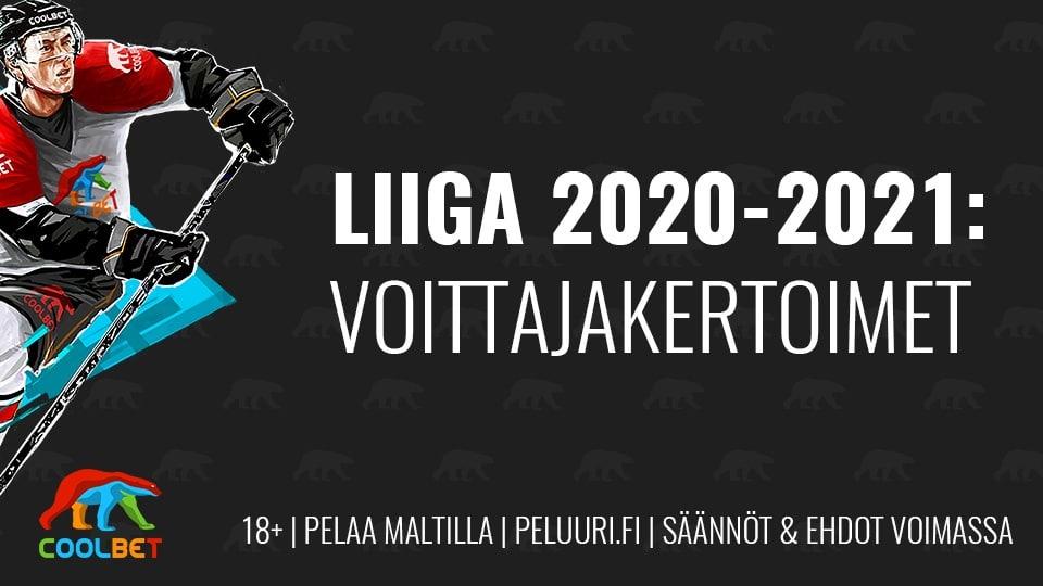 liigan voittajakertoimet 2020-2021