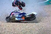 Video: Moto3-luokassa nähtiin hurja kaatuminen - pyörä linkosi kuskin ilmaan