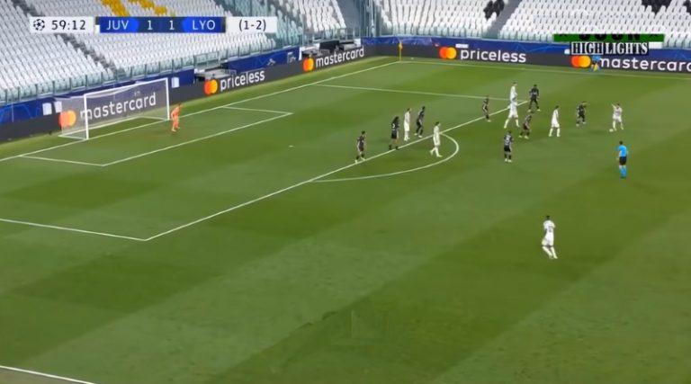 Video: Cristiano Ronaldo painoi upean maalin Lyonia vastaan