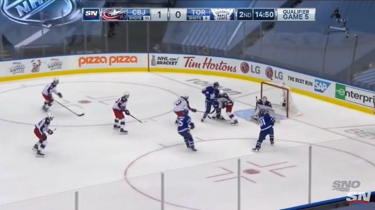 Video: Joonas Korpisalo hirmuvireessä – nollasi Toronto Maple Leafsin