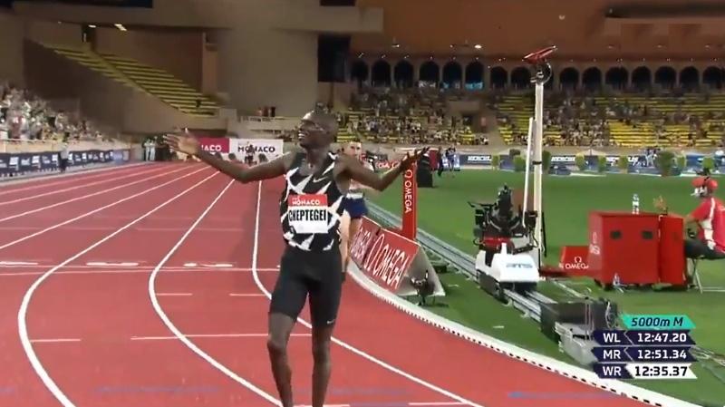 Joshua Cheptegei 5000 metrin maailmanennätys yleisurheilu - pallomeri.net