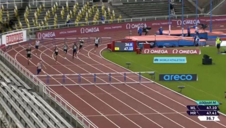 Video: Karsten Warholm juoksi historian toiseksi kovimman ajan miesten 400 metrin aidoissa