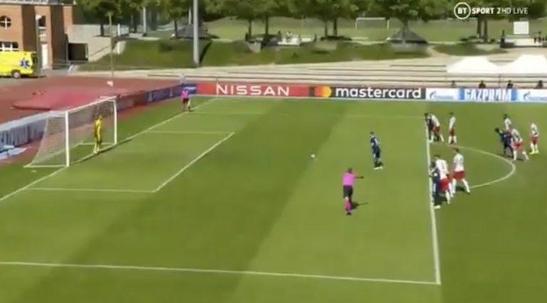 Video: Uefa Youth Leaguessa uskomatonta rankkarisekoilua – maalivahti torjui kolme pilkkua putkeen