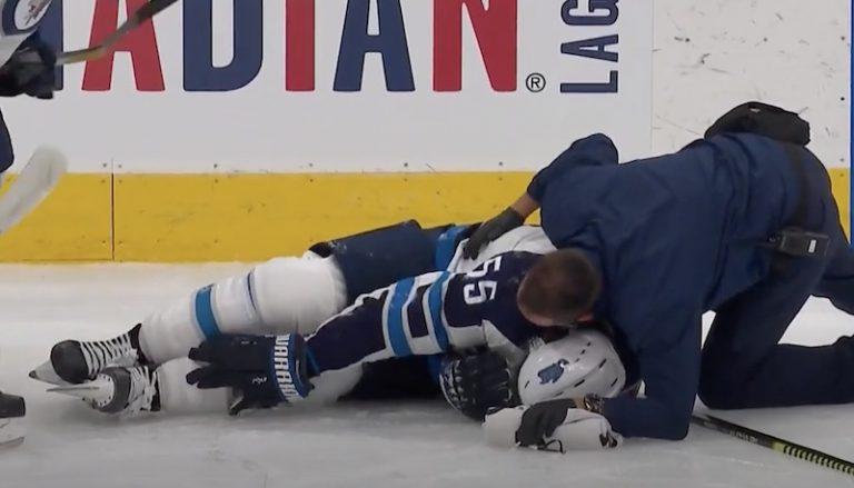 """Video: Mark Scheifele loukkaantui häijysti – """"Se oli saastainen potku"""""""