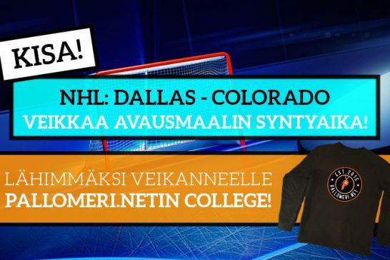 Dallas – Colorado -KISA! – Lähimmäksi veikanneelle Pallomeren college!