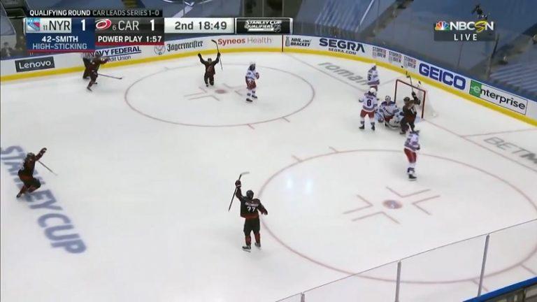 Video: Andrei Svechnikov ampui mielettömän laserin – Sebastian Aho ja Sami Vatanen syöttökoneina
