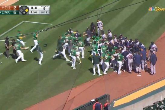 Video: Astros ja Athletics pistivät joukkotappelun pystyyn MLB:ssä - luvassa jättisanktiot?