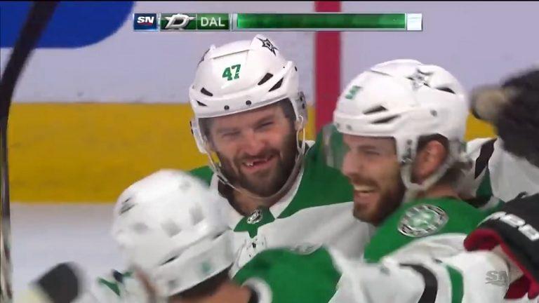 Video: Onnetar hymyili leveästi – Alexander Radulov viimeisteli voittomaalin olkapäällään