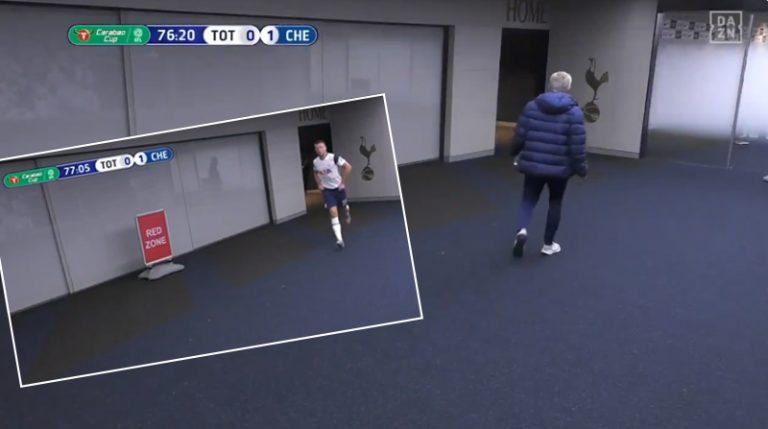 Video: Englannin liigacupissa komiikkaa – Dier lähti vessaan kesken matsin, Mourinho säntäsi perään