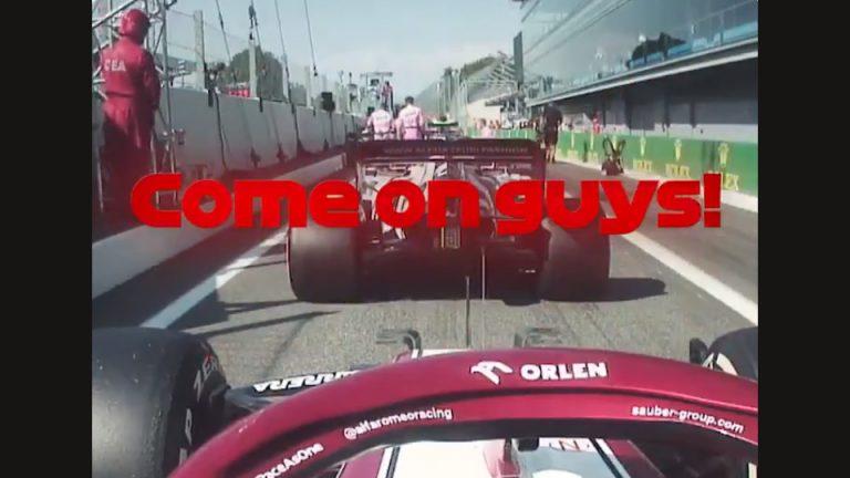 """Video: Kimi Räikkönen kihisi varikolla – """"Lopettakaa v***u sanominen ja laittakaa ne!"""""""