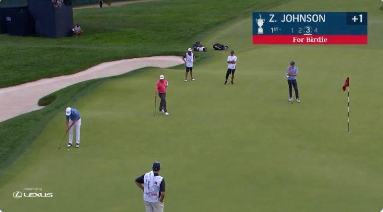 Video: Zach Johnson upotti täysin uskomattoman putin US Openissa