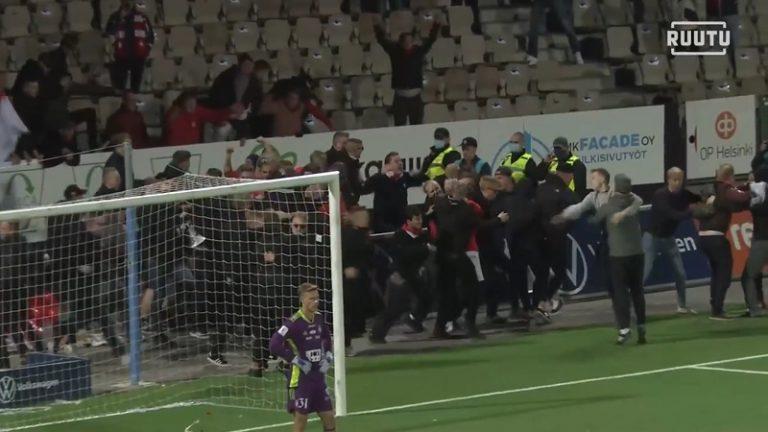 Video: Huikea Stadin Derby päättyi dramaattisesti – HIFK teki voittomaalin viime hetkillä, kannattajat rynnivät kentälle