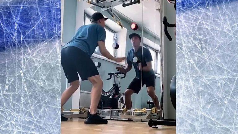 Video: NHL julkaisi koomisen videon – Emil Larmi treenaa nopeustesti-pelillä