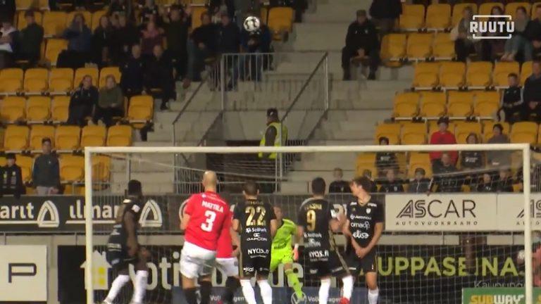 Video: HIFK:n Sakari Mattila upotti hemaisevan kauniin vaparimaalin – värikäs ilta päättyi naurettavaan ulosajoon