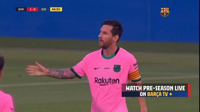 """Video: Lionel Messi teki huikaisevan maalin paluupelissään – säälimätön kuti """"huonommalla"""" jalalla"""