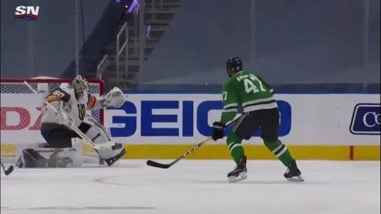 Video: Pelottava tilanne NHL:ssä – Aleksander Radulov laukoi kiekon Robin Lehnerin kaulaan