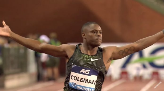 Christian Coleman 100m kilpailukielto - pallomeri.net