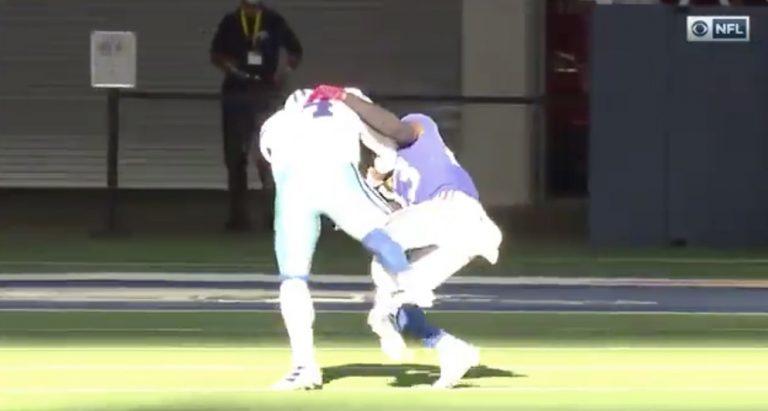 Video: NFL-tähti Dak Prescott loukkasi jalkansa karmealla tavalla