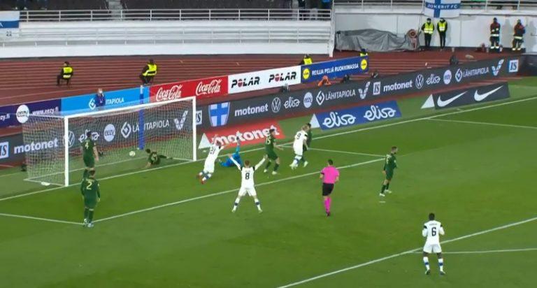 Video: Irlannin puolustus kämmäsi – Fredrik Jensen viimeisteli 1-0-voittomaalin