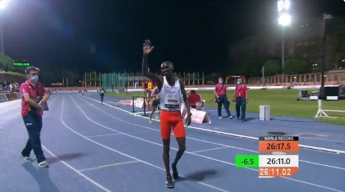 Joshua Cheptegei 10 000 metrin ME