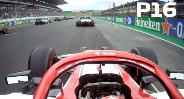 Video: Kimi Räikkönen tykitti hurjan avauskierroksen Portugalin GP:ssä – nousi 10 sijoitusta