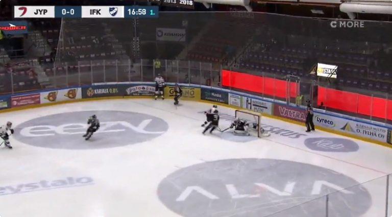 Video: Anton Lundell painoi huikean ulkosyrjä-osuman Liigan avauskierroksella