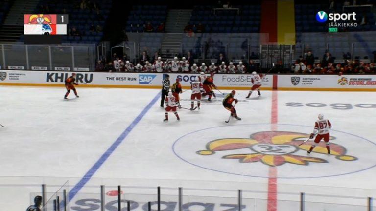 Video: Jokereiden voittokulku pysähtyi – Lokomotiv-pakki maalasi puolesta kentästä